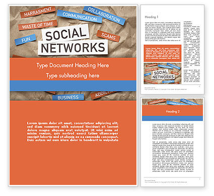 Crafting a Social Media Word Template, 12079, Careers/Industry — PoweredTemplate.com