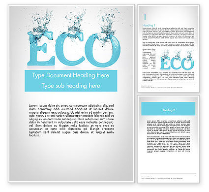 Nature & Environment: Water Ecology Word Template #12086