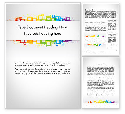 Abstract/Textures: Colorful Squares Word Template #12093