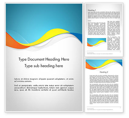 Abstract/Textures: Tricolor Wave Word Template #12099