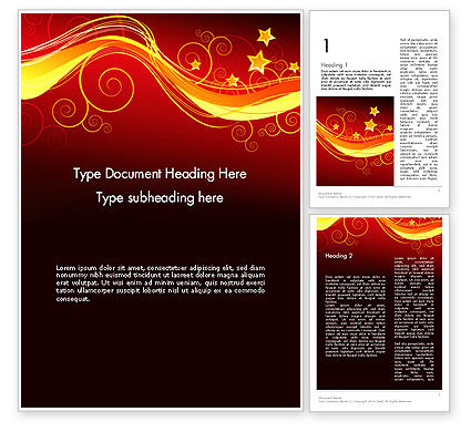 Abstract/Textures: Magic Theme Word Template #12102