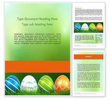 Holiday/Special Occasion: Painted Eggs Word Template #12103