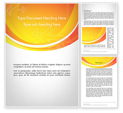 Abstract/Textures: Arrows on Orange Word Template #12104
