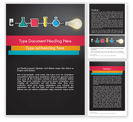 Hands-on Science Word Template, 12105, Education & Training — PoweredTemplate.com