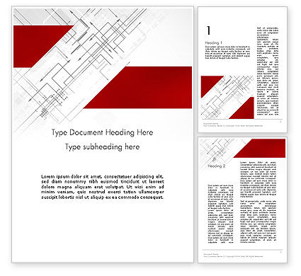 Multi-Directional Arrows Word Template, 12106, Business Concepts — PoweredTemplate.com