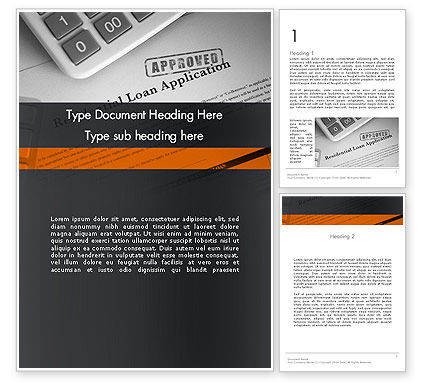 Loan Application Theme Word Template