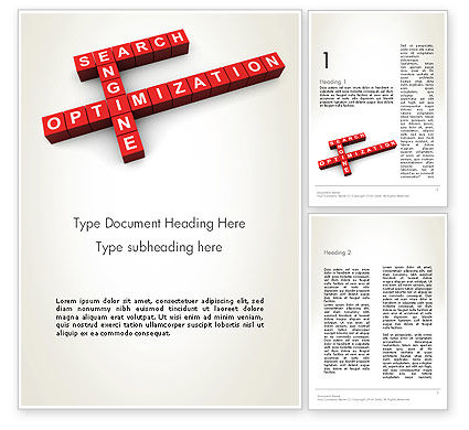 SEO Crossword Word Template