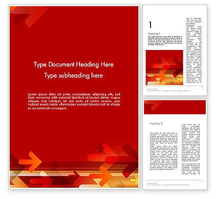Abstract/Textures: Modèle Word de flèches sur fond rouge #12125