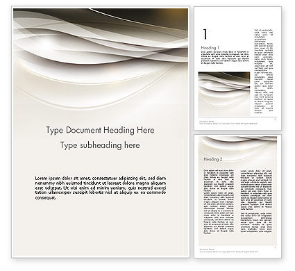 Abstract/Textures: Beige Blurry Waves and Curved Lines Word Template #12135