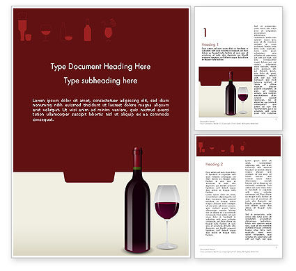 Wine Themed Word Template, 12139, Food & Beverage — PoweredTemplate.com