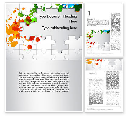 Abstract/Textures: Puzzle Background Word Template #12140