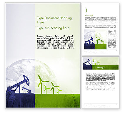 Nature & Environment: Renewable vs Nonrenewable Energy Word Template #12142