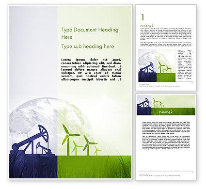 Nature & Environment: 可再生能源与不可再生能源Word模板 #12142
