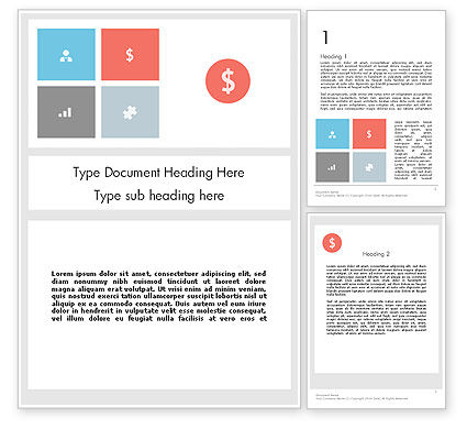 Financial/Accounting: Minimalist Financial Presentation Word Template #12144
