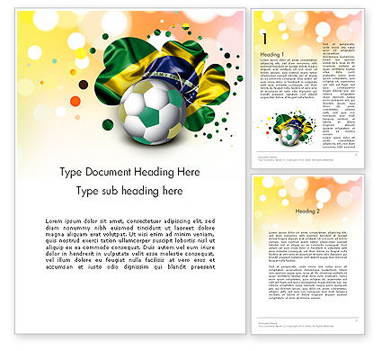 Love Brazil Word Template, 12157, Holiday/Special Occasion — PoweredTemplate.com