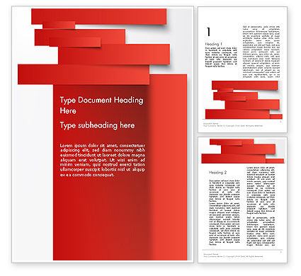 Cut Strips of Red Paper Word Template, 12162, Business Concepts — PoweredTemplate.com