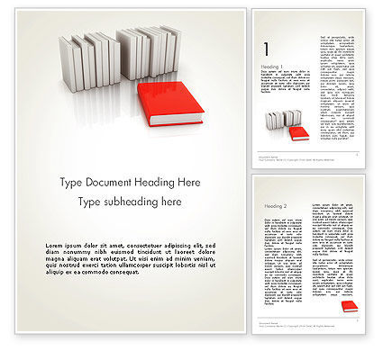 Careers/Industry: Books Development Word Template. #12166