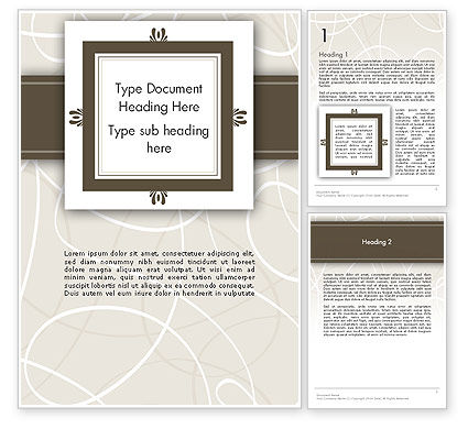 Abstract/Textures: Brown Frame Word Template #12174