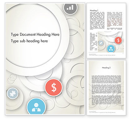 Business: Circles and Icons Word Template #12184