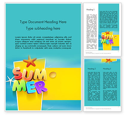 Holiday/Special Occasion: Summer Party Word Template #12205