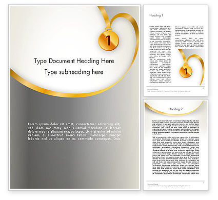 Gold Medal Word Template, 12214, Business Concepts — PoweredTemplate.com