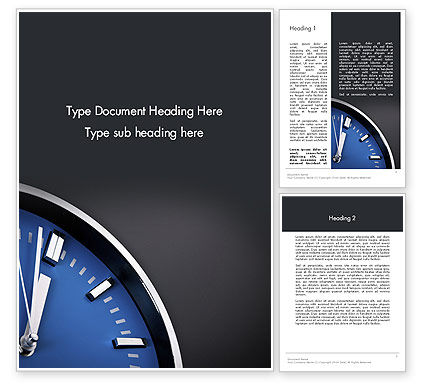 Time To Move Word Template, 12215, Consulting — PoweredTemplate.com