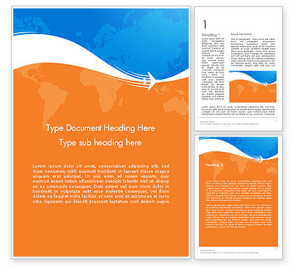 Careers/Industry: Travel Around The World Word Template #12226
