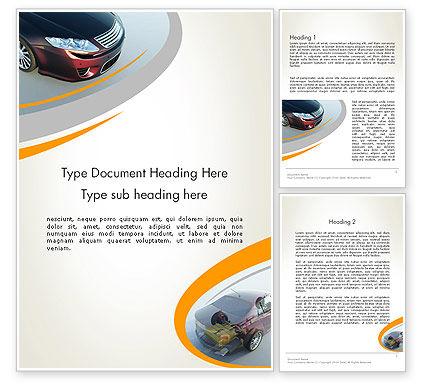 Cars/Transportation: Tesla Car Word Template #12228