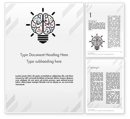 Education & Training: Creative Brain Word Template #12237