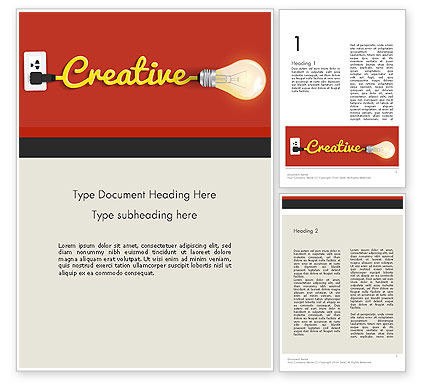 Creative Content Ideas Word Template, 12244, Careers/Industry — PoweredTemplate.com
