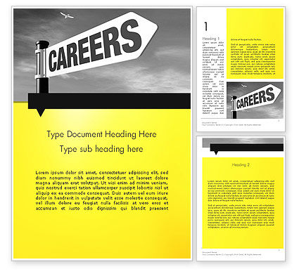 Careers Sign Word Template, 12253, Careers/Industry — PoweredTemplate.com