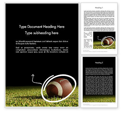 Sports: Super Bowl Party Word Template #12262