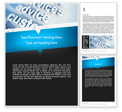 Professional Services Word Template, 12268, Careers/Industry — PoweredTemplate.com