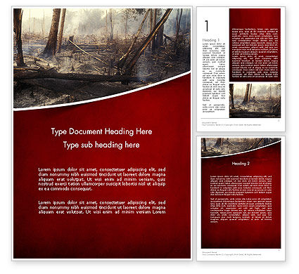 Effects of Forest Fire Word Template