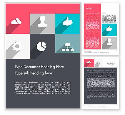 Business: Modern Company Presentation Word Template #12274