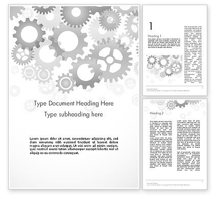 Abstract/Textures: Gears Background Word Template #12279