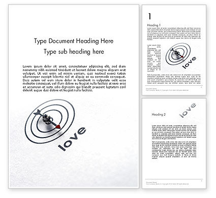 Holiday/Special Occasion: Falling In Love Word Template #12282
