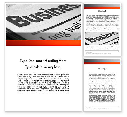 Business Articles Word Template, 12286, Careers/Industry — PoweredTemplate.com