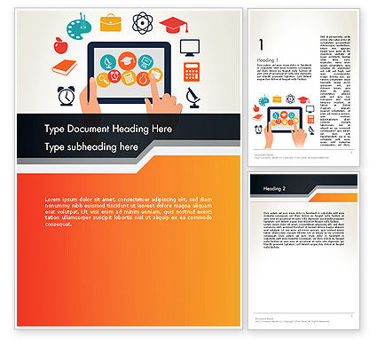 Education & Training: E-learning Icons Word Template #12313