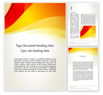 Abstract/Textures: Orange Waves Word Template #12322