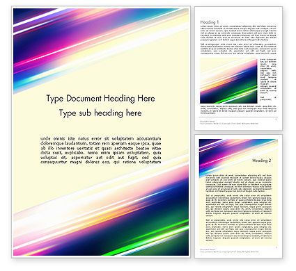 Abstract/Textures: Spectral Moving Lights Word Template #12326