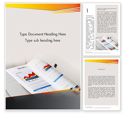 Careers/Industry: Color Copies Word Template #12329