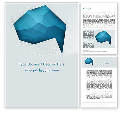 Abstract/Textures: Creative Speech Bubble Word Template #12332