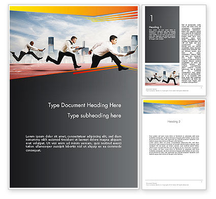 Business Competing Word Template, 12363, Careers/Industry — PoweredTemplate.com
