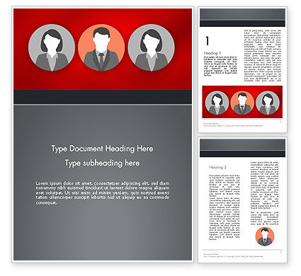 Team Presentation Word Template, 12364, Business Concepts — PoweredTemplate.com
