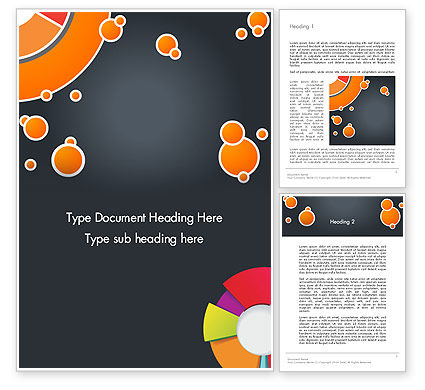 Abstract/Textures: Circles and Pies Word Template #12375