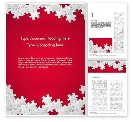 Abstract/Textures: Red puzzle hintergrund Word Vorlage #12411