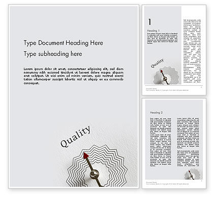 Business Concepts: Path to Quality Word Template #12412