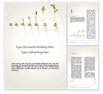Seed Germination Word Template, 12414, Technology, Science & Computers — PoweredTemplate.com