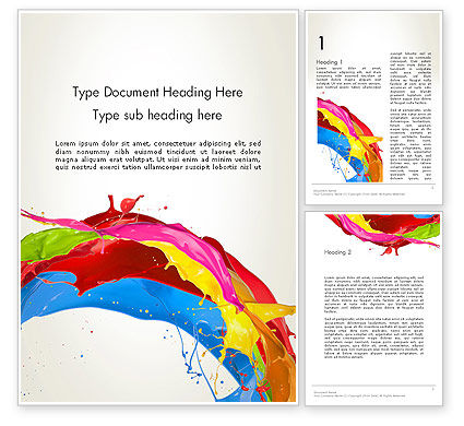 Abstract/Textures: Colorful Paint Splash Word Template #12417
